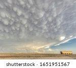 Mammatus Clouds Over A Train...