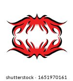 tribal art tattoo set with... | Shutterstock .eps vector #1651970161