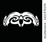 tribal art tattoo set with... | Shutterstock .eps vector #1651970194