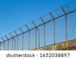 Restricted Area Metal Fence...