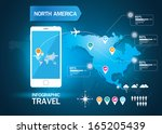 infographic world travel | Shutterstock .eps vector #165205439