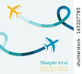 card with two planes and... | Shutterstock .eps vector #165207785