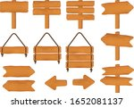 set of wooden arrows and...   Shutterstock .eps vector #1652081137