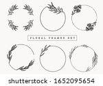 floral frames and borders... | Shutterstock .eps vector #1652095654