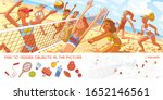 women's beach volleyball.... | Shutterstock .eps vector #1652146561