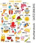 stylish summer alphabet in... | Shutterstock .eps vector #1652186341