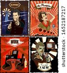 retro nation style poster kit   ... | Shutterstock .eps vector #1652187217