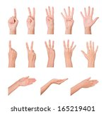 hands  fingers and numbers. on... | Shutterstock . vector #165219401
