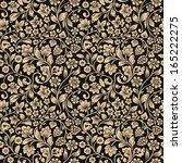 vector seamless vintage floral... | Shutterstock .eps vector #165222275