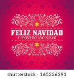 feliz navidad y prospero ano... | Shutterstock .eps vector #165226391