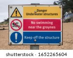 Beach Sign With Various...