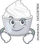 cool sour cream mascot... | Shutterstock .eps vector #1652287804