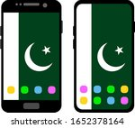 two black smartphones with a... | Shutterstock .eps vector #1652378164