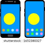 two black smartphones with a... | Shutterstock .eps vector #1652380327