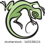 southwest lizard illustrated... | Shutterstock .eps vector #165238121