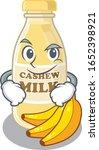 cool cashew milk mascot... | Shutterstock .eps vector #1652398921