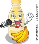 happy cashew milk singing on a... | Shutterstock .eps vector #1652399494