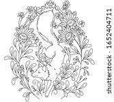 vector coloring book page for... | Shutterstock .eps vector #1652404711