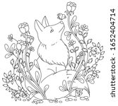 Vector Coloring Book Page For...