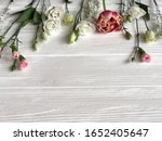 fresh spring flowers on white... | Shutterstock . vector #1652405647