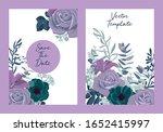 set of vintage vector floral...   Shutterstock .eps vector #1652415997
