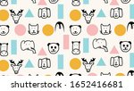 animals and geometry pattern.... | Shutterstock .eps vector #1652416681