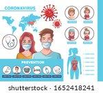 coronavirus infographic with... | Shutterstock .eps vector #1652418241