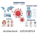 coronavirus infographic with... | Shutterstock .eps vector #1652418514