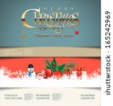 merry christmas background | Shutterstock .eps vector #165242969