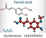 ferulic acid  coniferic acid ... | Shutterstock .eps vector #1652434654
