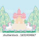 fairytale card with magic... | Shutterstock . vector #1652434867