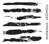 vector grunge brushes set 4 | Shutterstock .eps vector #165244211
