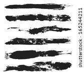 vector grunge brushes set 4 | Shutterstock .eps vector #165244211