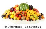 Still Life Of Fruit Isolated O...