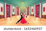 Ballroom Hall  Waltz Dancers I...