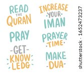 set of islamic hand drawn... | Shutterstock .eps vector #1652473237