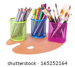 composition of various creative ... | Shutterstock . vector #165252164