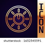 gold line dial knob level...