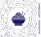 blue asian noodles in bowl and... | Shutterstock .eps vector #1652558641