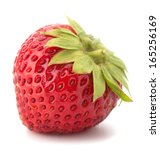 Garden Strawberry Isolated On...