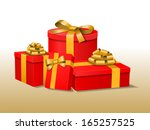 red vector gift boxes. file is ... | Shutterstock .eps vector #165257525