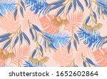 seamless pattern exotic... | Shutterstock .eps vector #1652602864