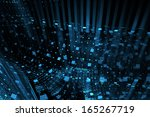 abstract business science or... | Shutterstock . vector #165267719