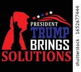president trump brings...   Shutterstock .eps vector #1652677444