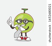 cantaloupe melon cartoon mascot ... | Shutterstock .eps vector #1652680021