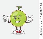 cantaloupe melon cartoon mascot ... | Shutterstock .eps vector #1652680144