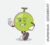cantaloupe melon cartoon mascot ... | Shutterstock .eps vector #1652680147