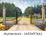 Vintage Wrought Iron Gate And...