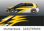 car decal wrap design vector.... | Shutterstock .eps vector #1652749654