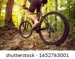 Mountain Bike Man Riding On...